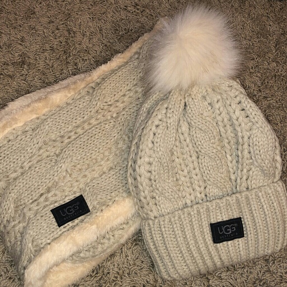 53dc58d9d12 UGG cream hat and infinity scarf set. M 5c36a9741b3294c0e34d5c2f. Other  Accessories ...